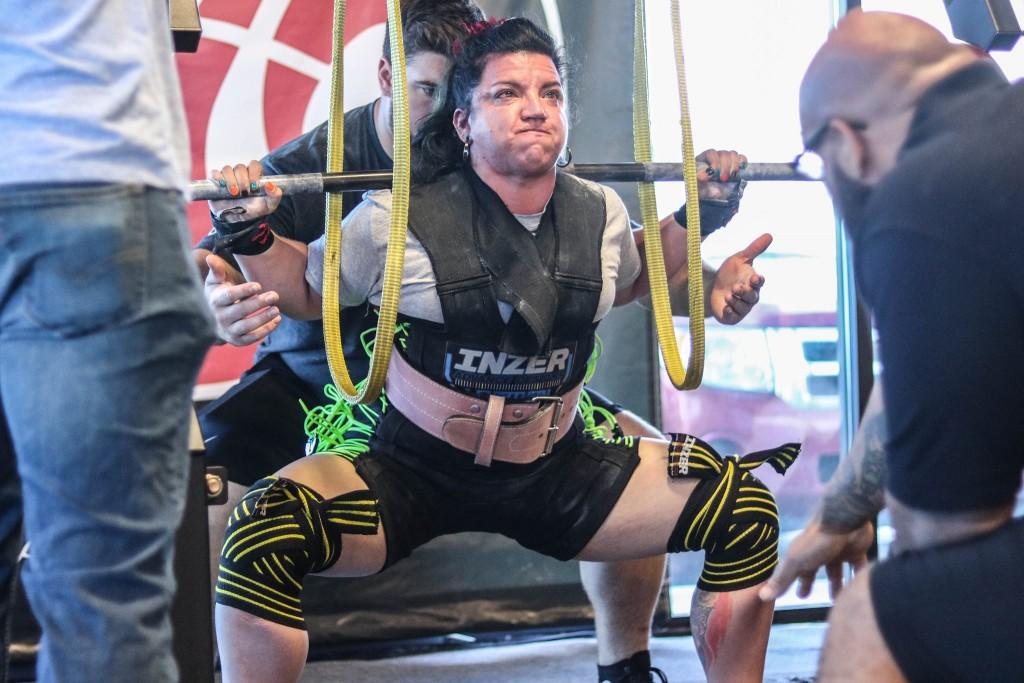 SweetDee squats 644 lbs.